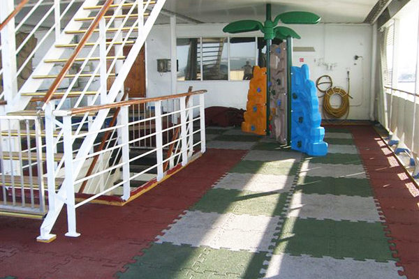 cruise ship non-slip flooring