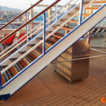 cruise ship corner guards stairs