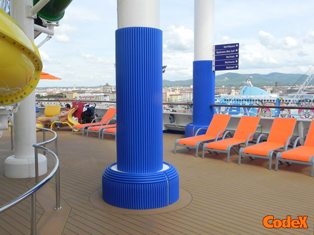 cruise ships column padding covers